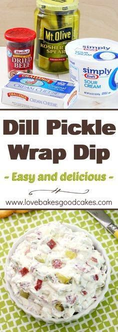 The classic Dill Pic The classic Dill Pickle Wraps you love - in...  The classic Dill Pic The classic Dill Pickle Wraps you love - in an easier to make but just as delicious dip! With only 4 ingredients and less than 10 minutes to make this will be your go-to appetizer! Recipe : http://ift.tt/1hGiZgA And @ItsNutella  http://ift.tt/2v8iUYW