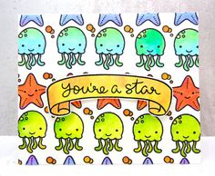 Lawn Fawn - So Jelly, Bannerific _ You're a Star! by Annette Allen Clever… Z Cards, Card Tags, Kids Cards, Cute Cards, Lawn Fawn Blog, Paper Craft Making, Lawn Fawn Stamps, Mama Elephant, Card Making Inspiration