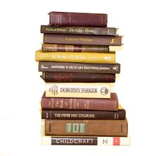 Vintage Book Collection Brown Gold Shades Home Interior Design $64.95
