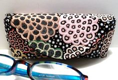 Eyeglass Case with Magnetic Closure in Pink and by nangatesdesigns, $16.00