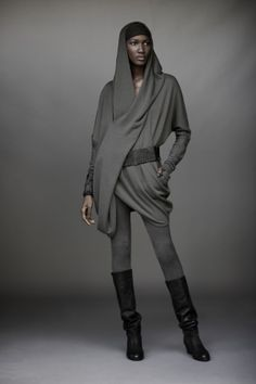 Luxury french terry hoody. $995. Urban zen, elements II collection by Donna Karan.