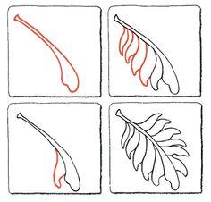 Leaf Pattern - zentangle