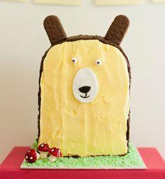 DIY Standing Bear Birthday Cake