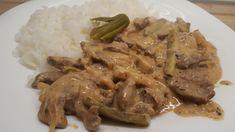 sztroganoff bélszín My Recipes, Pork, Beef, Cooking, Kale Stir Fry, Meat, Kitchen, Pork Chops, Brewing