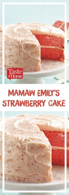 Mamaw Emily's Strawberry Cake is part of Strawberry cake recipes - My husband loved his Mamaw's strawberry cake recipe He thought no one could duplicate it I made it, and it's just as scrumptious as he remembers —Jennifer Bruce, Manitou, Kentucky Brownie Desserts, Oreo Dessert, Mini Desserts, Just Desserts, Delicious Desserts, Dessert Recipes, Dessert Blog, Dishes Recipes, Delicious Dishes