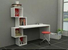 19 Ideas for bedroom desk study Home Office Design, Home Office Decor, Home Furniture, Furniture Design, Furniture Plans, Study Table Designs, Bedroom Desk, Room Decor, Shelves