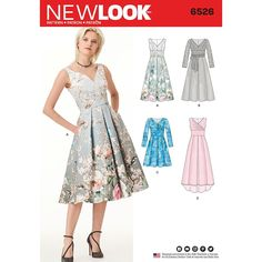 New Look New Look Pattern 6526 Misses' Dress with Bodice Variations sewing pattern Dress Sewing Patterns, Free Sewing, Vintage Sewing Patterns, Clothing Patterns, Sewing Tips, Sewing Projects, Sewing Ideas, Embroidery Patterns, Sewing Crafts