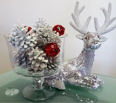 Features:  -Set includes 12 white sugar coated pine cones and 3 red jingle bells.  -Red bells.  -Holiday cheer.  -Made in the USA.  Country of Manufacture: -United States.  Product Type: -Decorative A