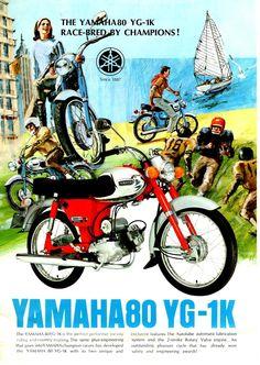 ab869dac23f Yamaha 80 YG-1K Motor Cycle Vintage Brochure   Leaflet 28369