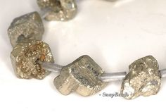 "Palazzo Pyrite Gemstones Rough Edge Rugged Nugget Cube 10X9MM Loose Beads 8.5"" Half Strand (90113264-107)"