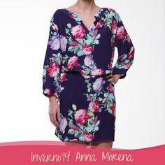 Anna Morena | Fall Winter Lookbook 2014 | Lookbook Outono Inverno 2014 | vestido; floral; estampas; prints; trend.
