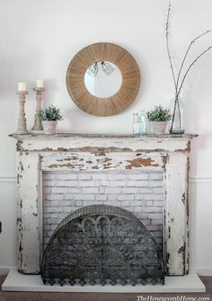 Great Free fake Fireplace Mantels Suggestions How to build a custom fireplace surround for any mantel. Faux Fireplace Mantels, Diy Mantel, Vintage Fireplace, Custom Fireplace, Rustic Fireplaces, Farmhouse Fireplace, Fireplace Surrounds, Rustic Farmhouse, Mantel Ideas