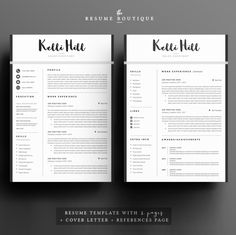 https://creativemarket.com/The.Resume.Boutique/645225-Resume-Template-4page-Jolie