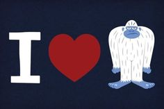 """I love yetis!"" express your snowy side with this t-shirt"