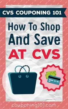 CVS Couponing 101 - How to shop and save money at CVS! Couponing For Beginners, Couponing 101, Extreme Couponing, Start Couponing, Best Money Saving Tips, Ways To Save Money, Saving Money, Money Savers, Money Tips