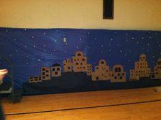 Night in Bethlehem - City backdrop