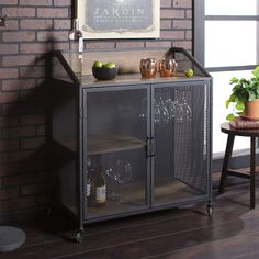 100  Farmhouse Bar Carts and Rustic Kitchen Carts for your Farmhouse Style Kitchen. We absolutely love farmhouse kitchen island carts and rustic bar carts because they are beautiful and functional. Glass Kitchen Cabinets, Wine Cabinets, Kitchen Dining, Kitchen Island, Kitchen Carts, Kitchen Buffet, Kitchen Decor, Dining Room, Entryway Storage Cabinet