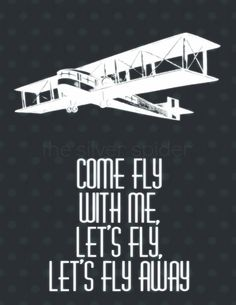 Come Fly With Me Frank Sinatra Lyrics Art by TheSilverSpider