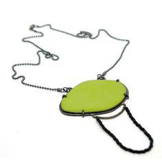 Green Enameled Necklace - Samantha Skelton