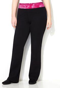 b4e6a203ecb Tie Dye Waist Yoga Pant-Plus Size Yoga Pant-Avenue Trendy Plus Size Fashion