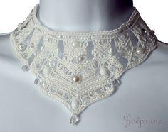 """Collier blanc collection """"haute couture"""" Mariage Givré"""