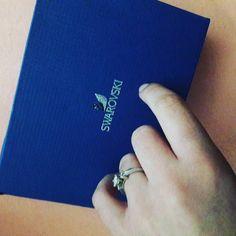 Okay well... Just one more gift from him..  #swarovski #gift #surprise #jewelry #jewels #jewel  #fashion #gems #gem #gemstone #bling #stones #stone #trendy #accessories #love #crystals #beautiful #ootd #style #fashionista #accessory #instajewelry #stylish #cute #jewelrygram  #fashionjewelry by anesahagi