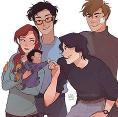 Lily , James , Syriusz , Remus and Harry ❤❤❤