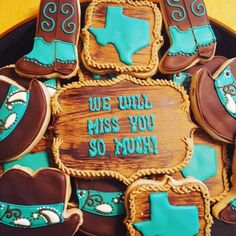 We will miss you - Moving to Texas cookies! #decoratedcookies #sugarcookies #cookies #customcookiedecorating #cookieart #royalicing #edibleart #cookiedecorating #kc #kansascity #kclocal #localkc #kcmade #love #cute #beautiful
