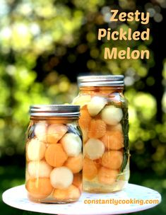 Melon Recipes, Cantaloupe Recipes, Snack Recipes, Snacks, Pickled Fruit, Skewer Appetizers, Fruit Preserves, Survival Food, Fruits And Veggies