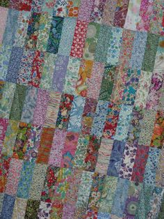 Patchwork Baby Quilt Liberty of London tana lawn by AnniesPatch