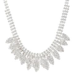 Layered Crystal Arrow Statement Necklace (27 AUD) ❤ liked on Polyvore featuring jewelry, necklaces, crystal jewelry, crystal chain necklace, chain necklace, bib statement necklace and layered necklace