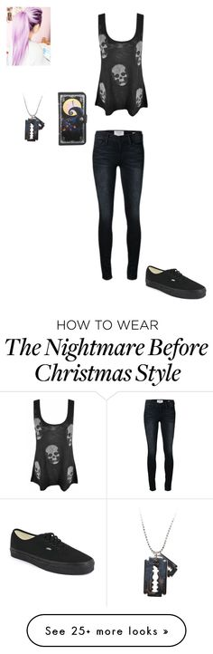 """Untitled #107"" by outlaw88 on Polyvore featuring E.vil, Frame Denim and Vans"