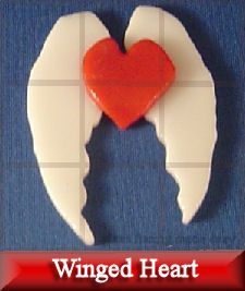 tack fuse, heart, wing, for mosaic project from glass fusing 123 blog