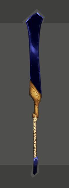 Blue Sword, Han Hunter on ArtStation at https://www.artstation.com/artwork/3r8gB