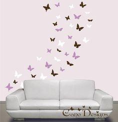 Mariposas conjunto de 36 3 colores etiquetas de la por CanoDesigns, $28.00