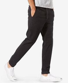 2906fcf9 Dockers Men's Alpha Slouch Tapered Fit Smart 360 FLEX Jogger Pants &  Reviews - Pants - Men - Macy's