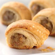 Puff Pastry Sausage Rolls - These sausage bites wrapped in flaky pastry are a true crowd favorite.