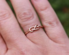 Infinity Knot Ring 14K Rose Gold Filled by MountainMetalcraft