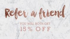 Shop Referral card modern rose gold typography marble created by girly_trend. Body Shop At Home, The Body Shop, Hair Salon Quotes, Salon Promotions, Lash Quotes, Small Business Quotes, Hairstylist Quotes, Lashes Logo, Referral Cards