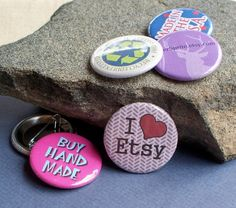 1 1/4  Inch Button Pins - Set of 25 by jessijewels on Etsy, $22.50