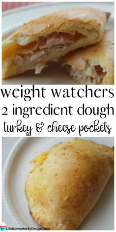 Weight Watchers 2 Ingredient Dough Turkey and Cheese Pockets are a great lunch or dinner recipe. These are low in freestyle smartpoints and really delicious! It is one of my new favorite Weight Watchers recipes!