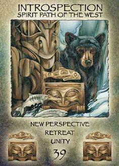 """39 Introspection"" Spirit of the Wheel Meditation Deck par Jody Bergsma"