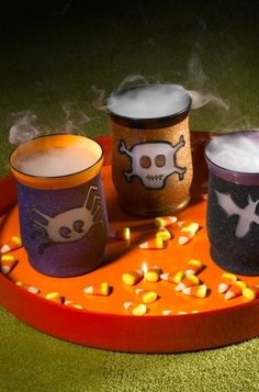 Have a few hours to make your house a little spooky? Check out this awesome tutorial for dressed up halloween votives!