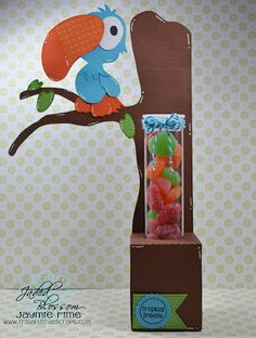 This and That Scraps: Tropical Treats-- Toucan Tube Holder