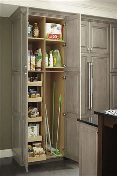 Make the most of tall cabinet storage with a utility cabinet combination that allows your to configure exactly to your needs. Make the most of tall cabinet storage with a utility cabinet combination that allows your to configure exactly to your needs. Kitchen Utility Cabinet, Utility Storage Cabinet, Tall Kitchen Cabinets, Utility Cabinets, Kitchen Cabinet Organization, Storage Cabinets, Kitchen Storage, Hallway Storage Cabinet, Kitchen Cabinet Accessories
