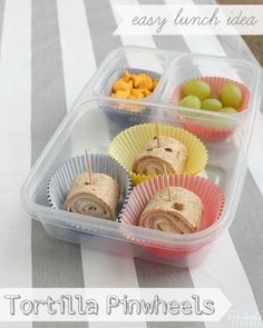 school lunch easy tortilla pinwheels