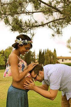 Beautiful interracial couple pregnancy photography #love #wmbw #bwwm