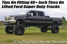 40 inch tires on lifted Ford Super Duty Truck