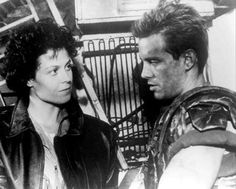 """""""No one could've played that part like you did: so effortless and so warm, and so kind of…debonair…even though you were a grunt."""" -Sigourney Weaver to Michael Biehn at the Aliens Anniversary. Aliens 1986, Aliens Movie, Alien Resurrection, Romantic Comedy Movies, Sci Fi Thriller, Image Film, Alien Concept Art, Sigourney Weaver, Sci Fi Films"""