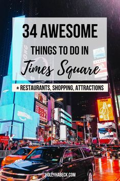 34 Things to Do in Times Square (and 4 are FREE!) - Holly Habeck - Exploring Times Square is a rite of passage when it comes to visiting New York City. So, check out - New York City Vacation, Visit New York City, New York City Travel, New York City Shopping, New York Travel Guide, New York City Guide, Orlando, York Things To Do, Times Square New York